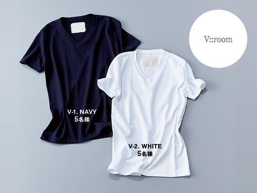 V::ROOM Tシャツ 各¥11,800