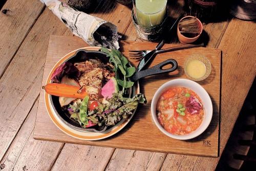 KD_【Morning】ローズマリー風味のジャガイモのガレットと焼き野菜