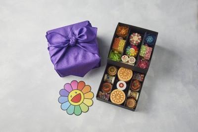 """村上隆 """"お花"""" アフタヌーンティー テイクアウトボックス/ Takashi Murakami Flower Afternoon Tea Take-out Boxes"""